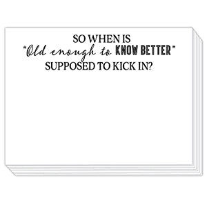 Old Enough To Know Better Mini Slab Notepad