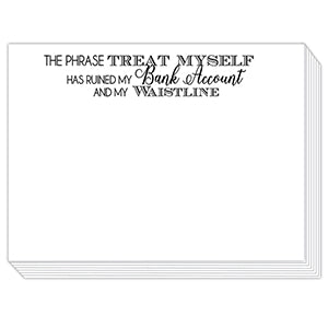Phrase Treat Myself Mini Slab Notepad