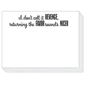 I Don't Call It Revenge Mini Slab Notepad