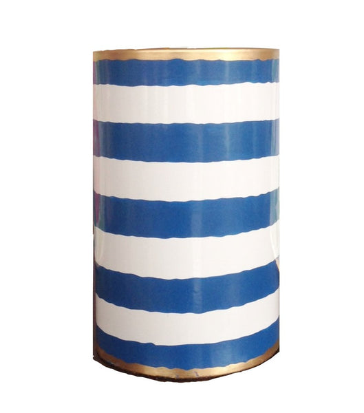 Navy Striped Pen Cup