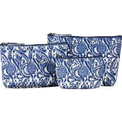 Everly Navy Cosmetic Bag Set of 3