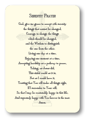 Serenity Prayer Enclosure Cards