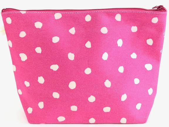 Dots Fuchsia XL Travel Pouch