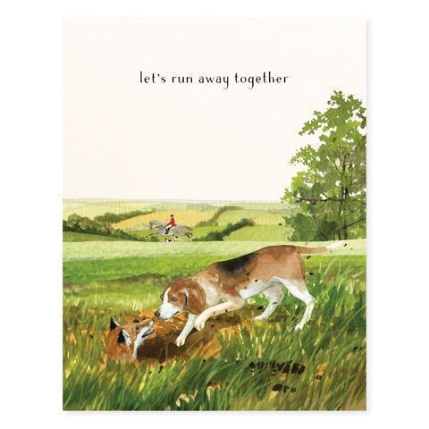 Let's Run Away Greeting Card
