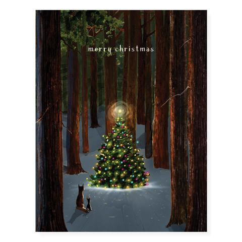 Tree Lighting Greeting Card