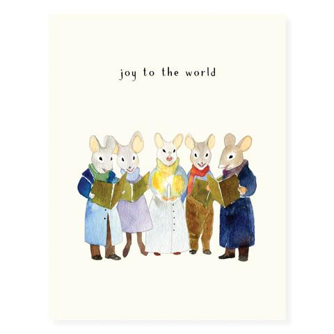 Carolling Mice Greeting Card