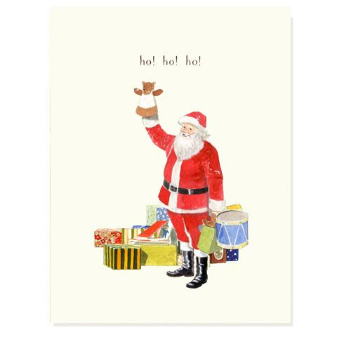 Jolly Saint Nick Greeting Card