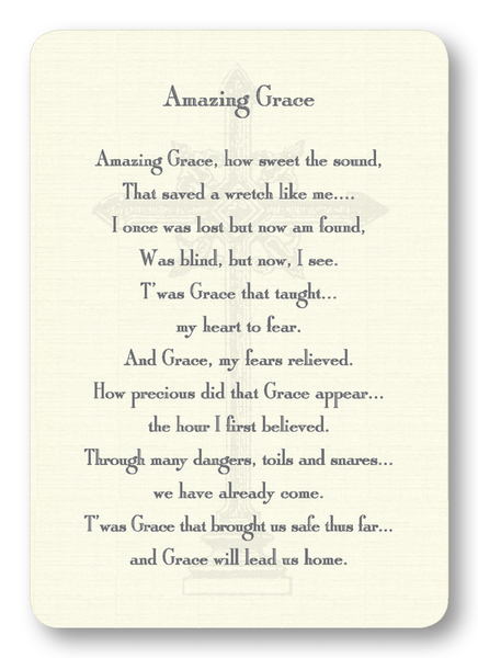 Amazing Grace Prayer Enclosure Cards