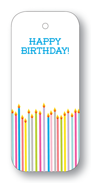Happy Birthday! Candles Gift Tags