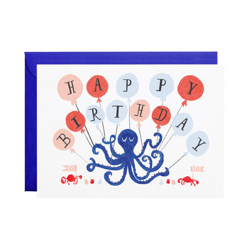 Eight Balloons Greeting Cards
