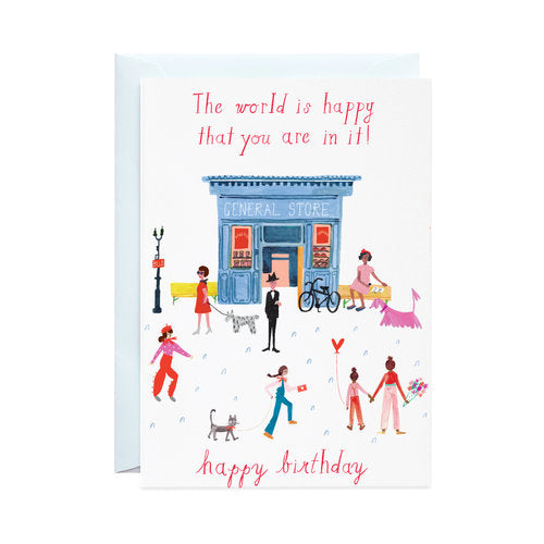 Party On Main Street Greeting Card
