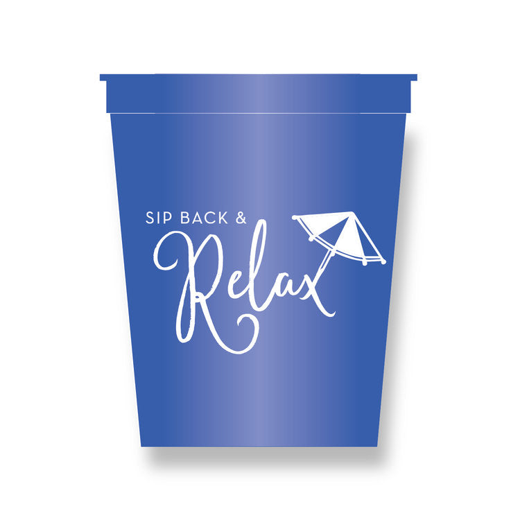 Sip and Relax Party Cups