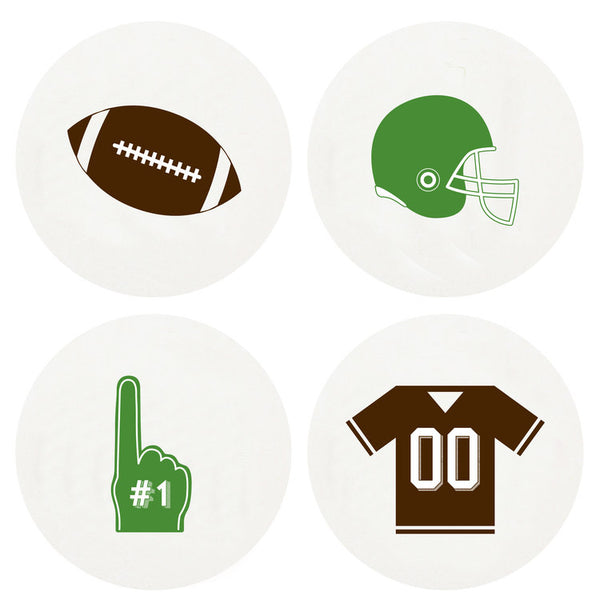 Football Letterpress Coasters