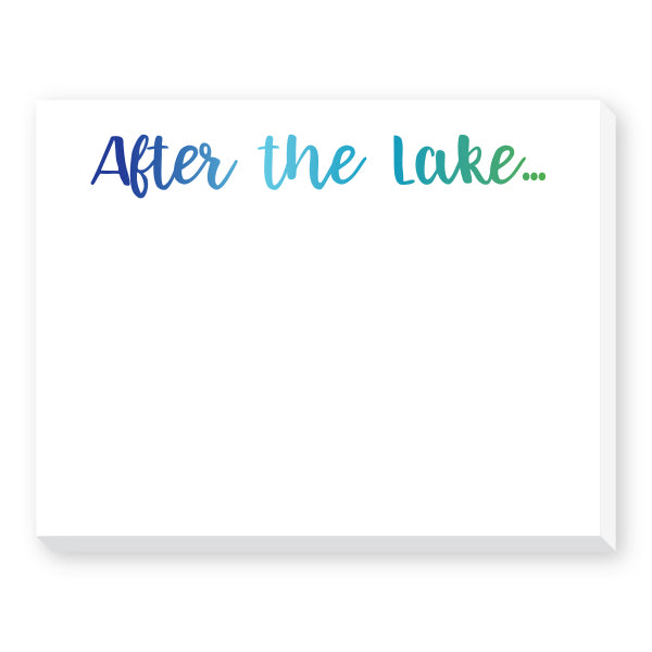 After the Lake Dittie Notepad
