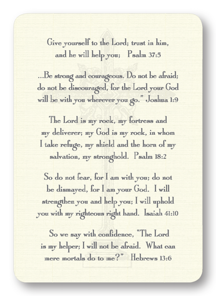 Verses for Fear Prayer Enclosure Cards
