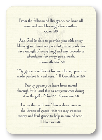 Verses on Grace Prayer Enclosure Cards