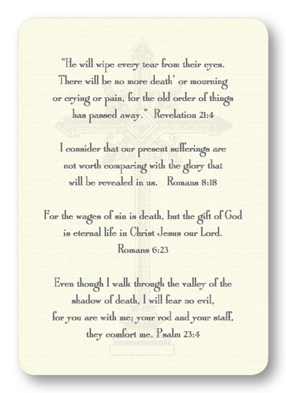 Verses for Grief Prayer Enclosure Cards
