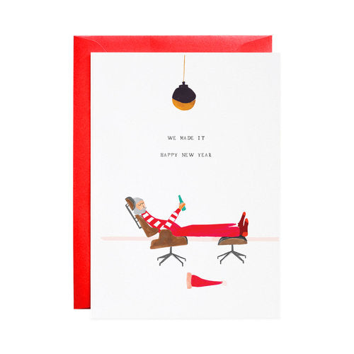 We Made It, Mr. Claus Greeting Card