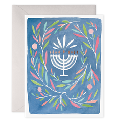 Menorah Greeting Card