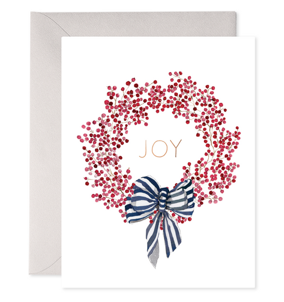 Red Berry Wreath Greeting Card