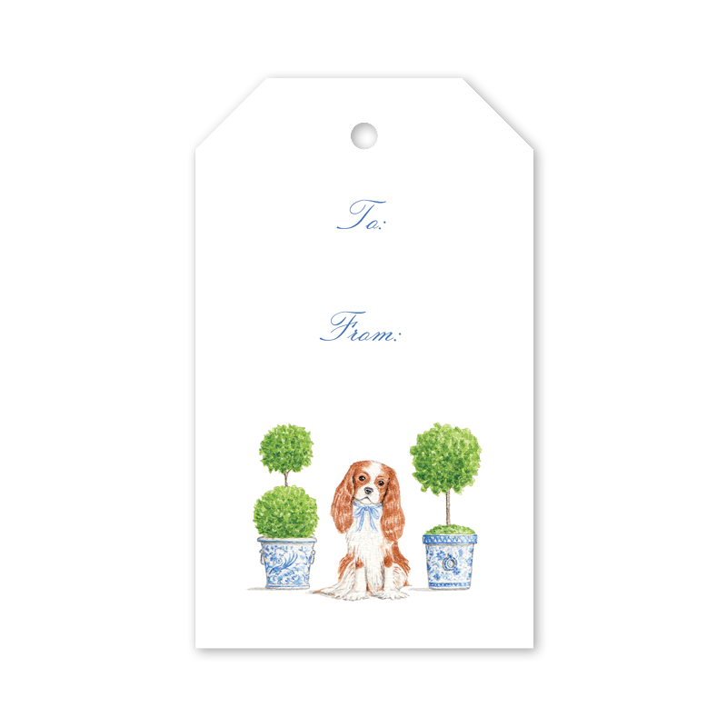 Dash Topiary and Toile Gift Tags