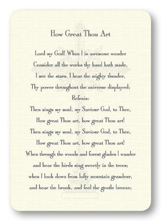 How Great Thou Art Prayer Enclosure Cards