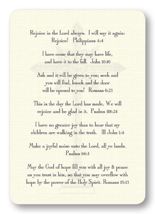 Verses of Joy Prayer Enclosure Cards