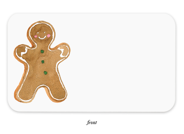 Gingerbread Man Little Notes