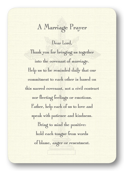 A Marriage Prayer Enclosure Cards