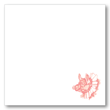 Pig in Collar Notepad