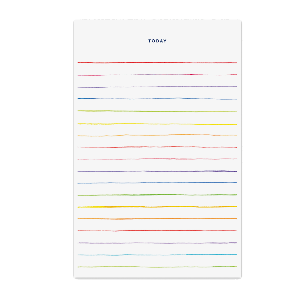 Today Multi Stripes Notepad