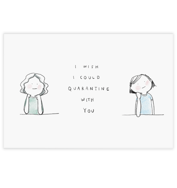 Quarantine With You Postcard