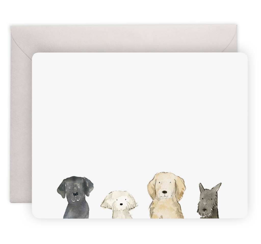Dog's Day Flat Notecards