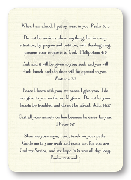 Verses for Stress Prayer Enclosure Cards