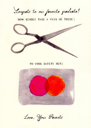 A Hole in Your Safety Net Graduation Greeting Card