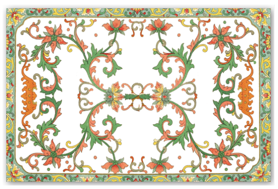 Chinese Floral Frame Placemats