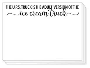 The UPS Truck is the Adult Version of the Ice Cream Truck Mini Slab