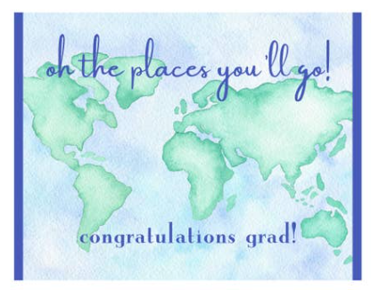 "Graduation Oh The Places You""ll Go Single Card"