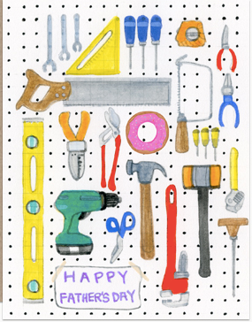 Tools with Donut Father's Day Card