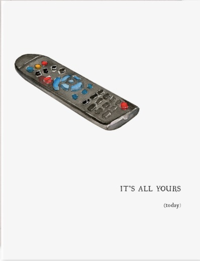 Remote Father's Day Card