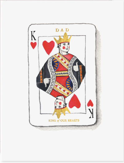 King of Our Hearts Father's Day Card