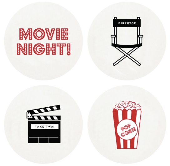Movies Letterpress Coasters