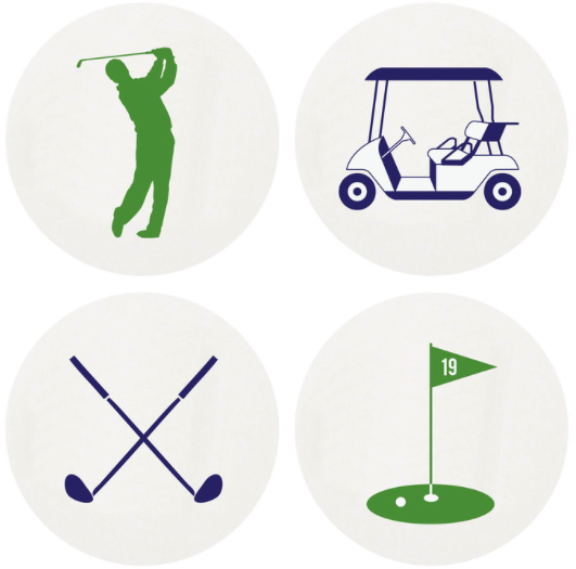 Golf Letterpress Coasters