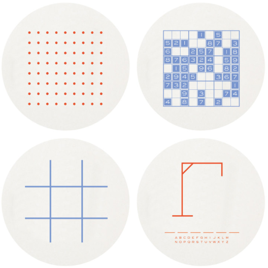 Games Letterpress Coasters