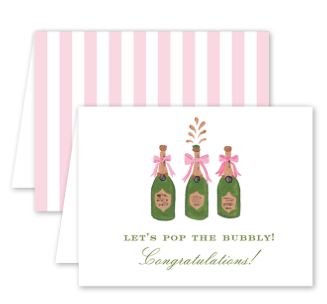 Champagne Congrats Card