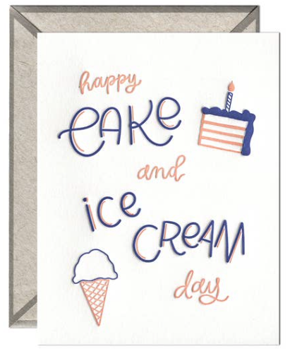 Cake & Ice Cream Day Greeting Card