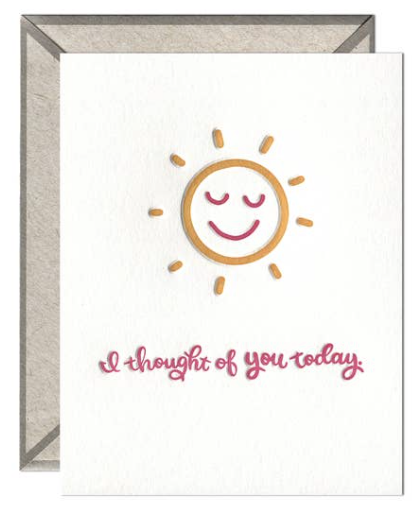 Thought of You Today Greeting Card