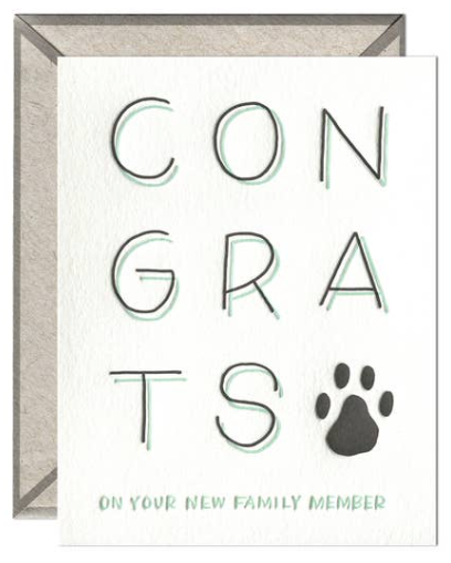 New Pet Congrats Greeting Card