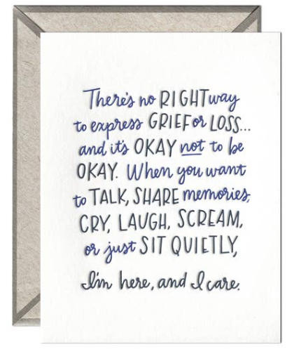 No Right Way to Grieve Greeting Card