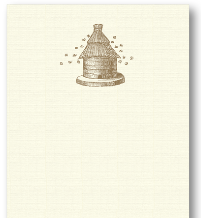 Beehive Long Notepad